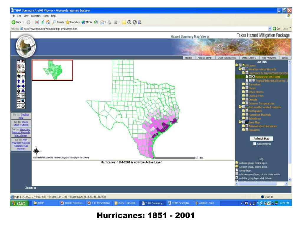 Hurricanes: 1851 - 2001