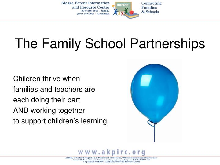The family school partnerships