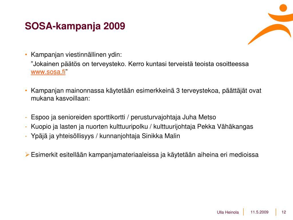 SOSA-kampanja 2009
