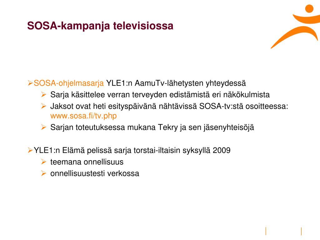 SOSA-kampanja televisiossa
