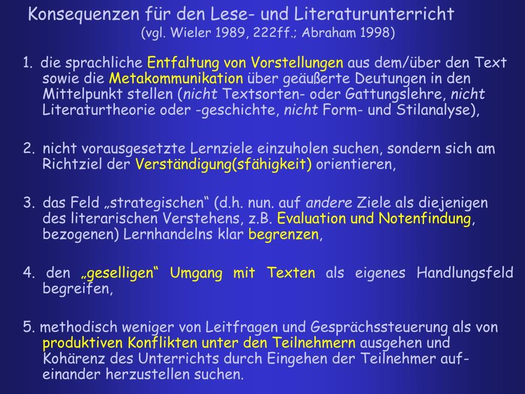 (vgl. Wieler 1989, 222ff.; Abraham 1998)