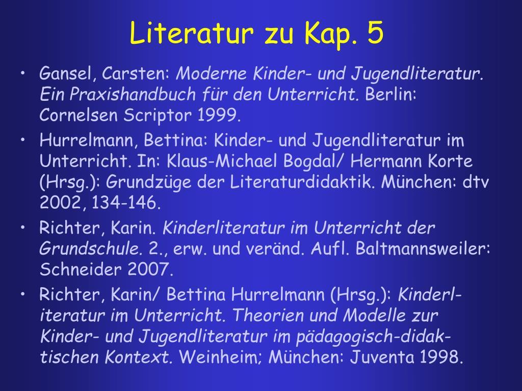 Literatur zu Kap. 5