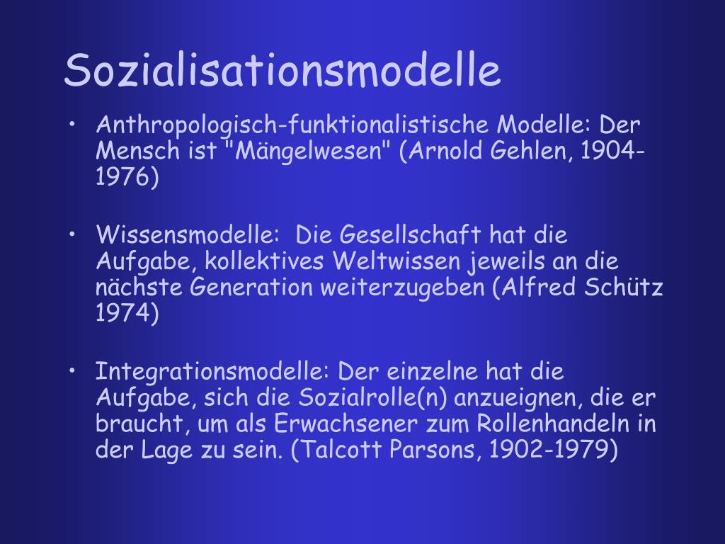 Sozialisationsmodelle