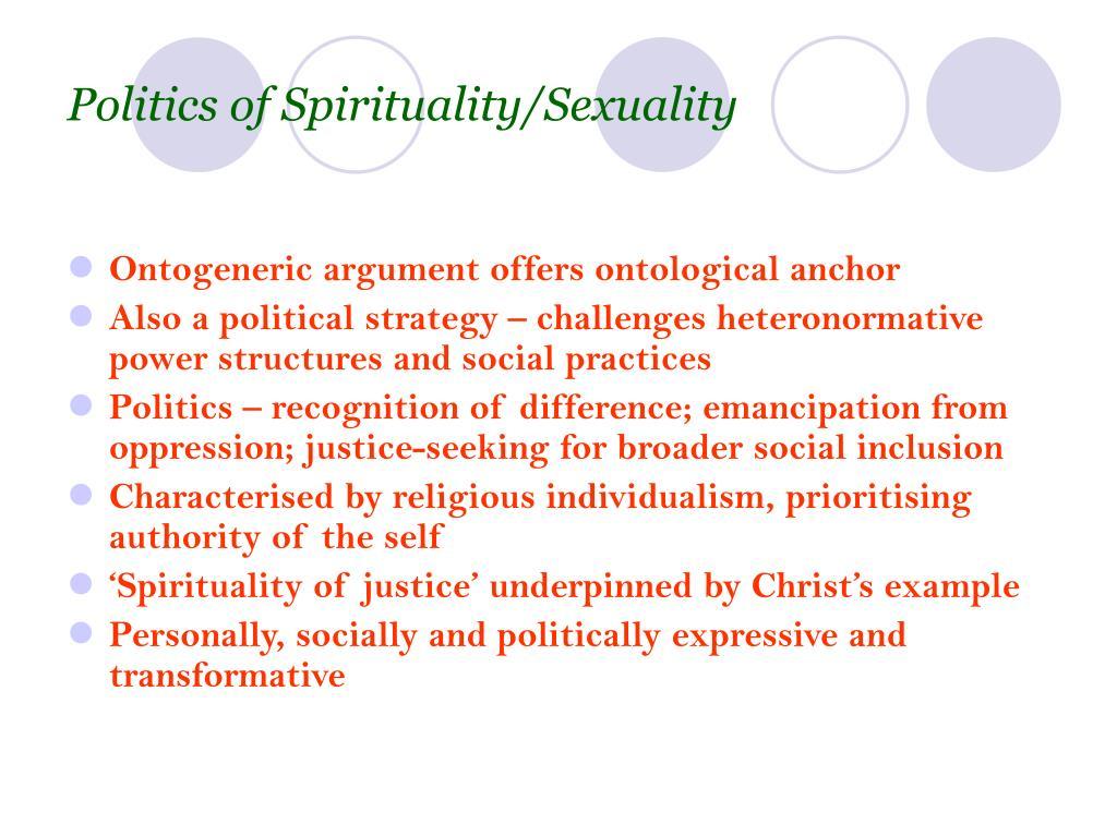 Politics of Spirituality/Sexuality