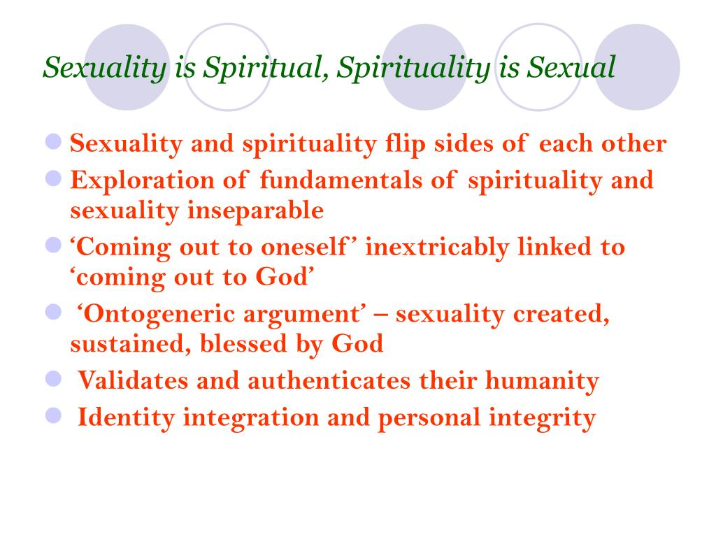 Sexuality is Spiritual, Spirituality is Sexual