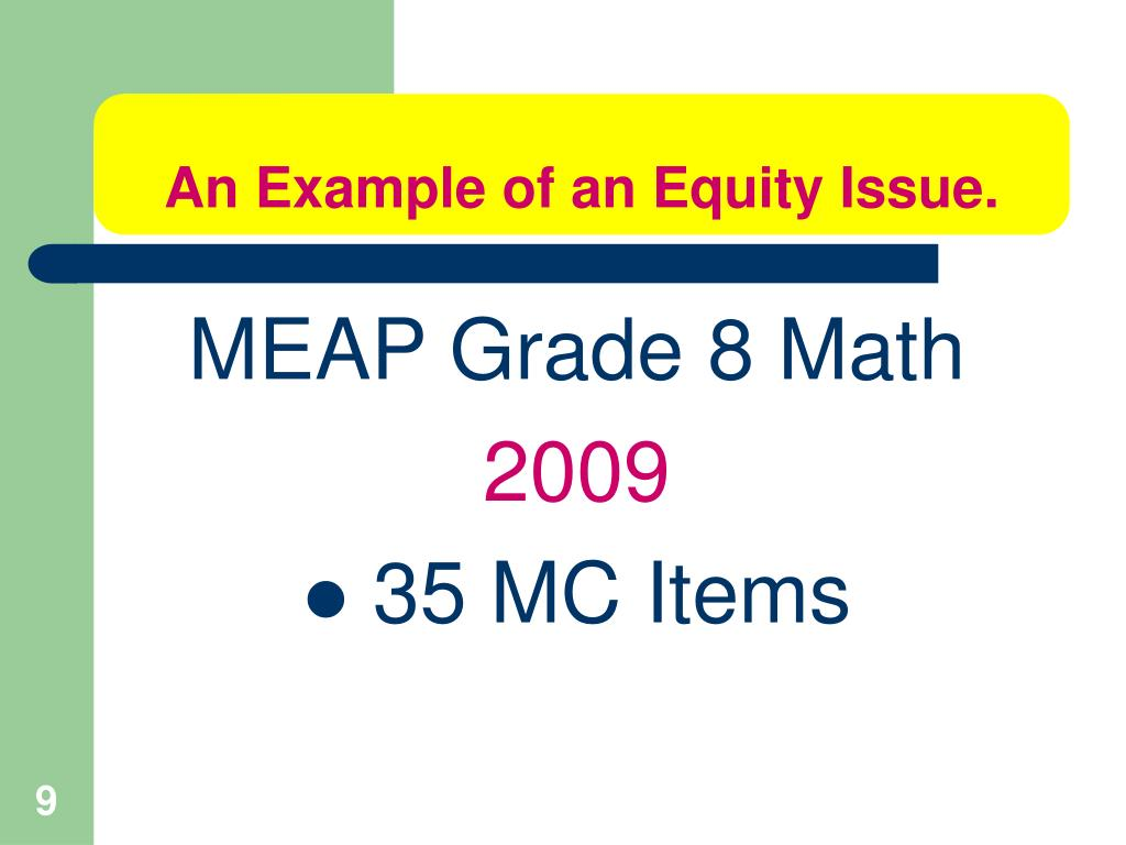 An Example of an Equity Issue.