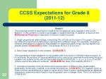 ccss expectations for grade 8 2011 12