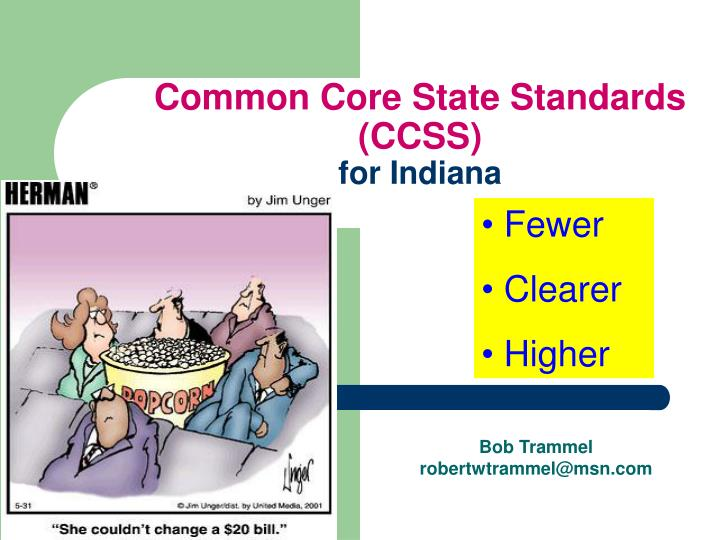 Common core state standards ccss for indiana