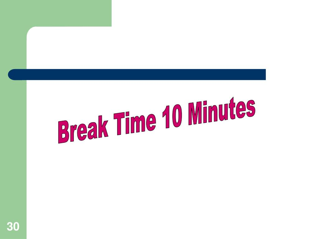 Break Time 10 Minutes