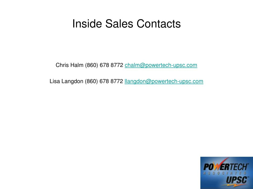 Inside Sales Contacts