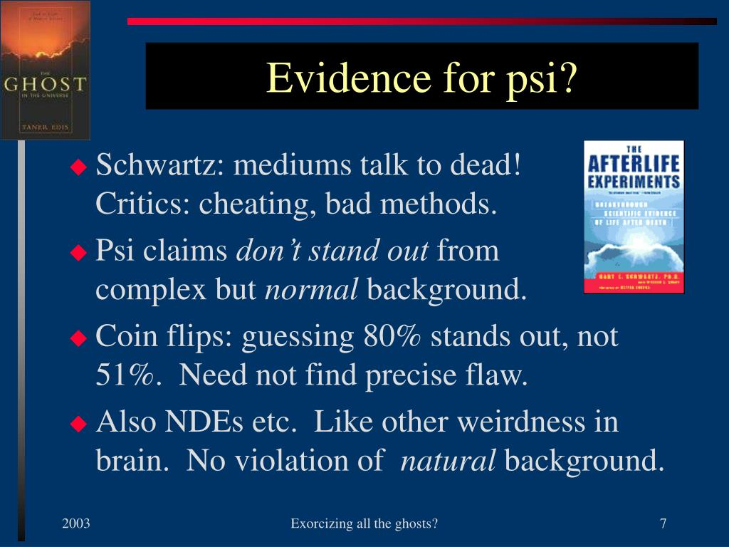 Evidence for psi?