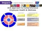 acs approach to comprehensive employee health wellness
