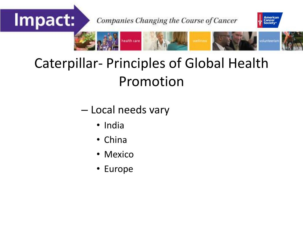 Caterpillar- Principles of Global Health Promotion