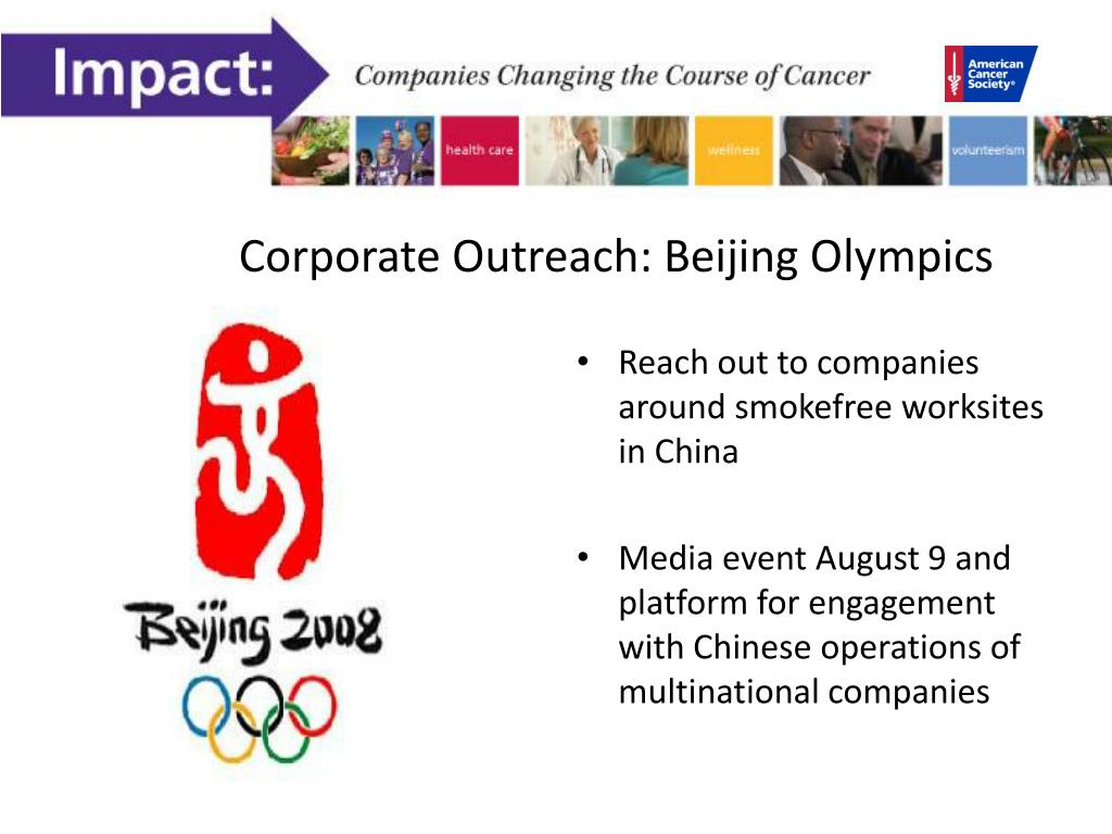Corporate Outreach: Beijing Olympics