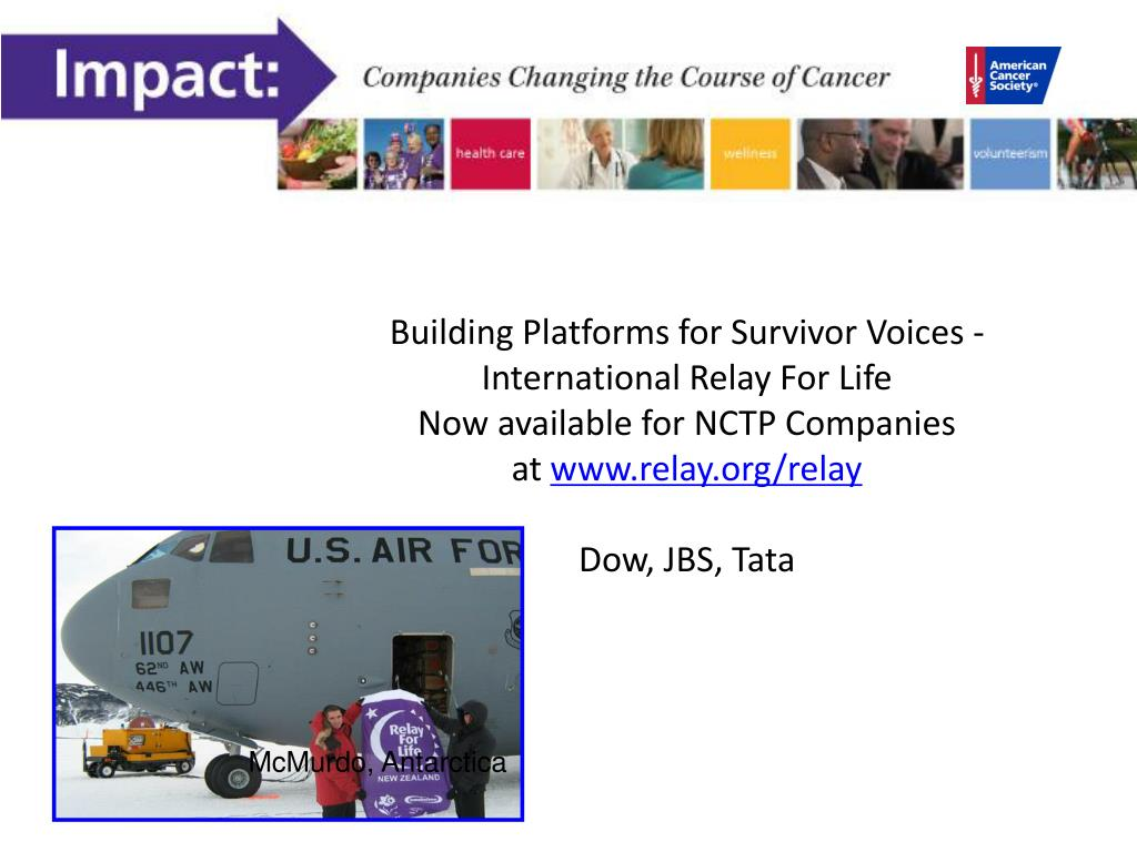 Building Platforms for Survivor Voices - International Relay For Life
