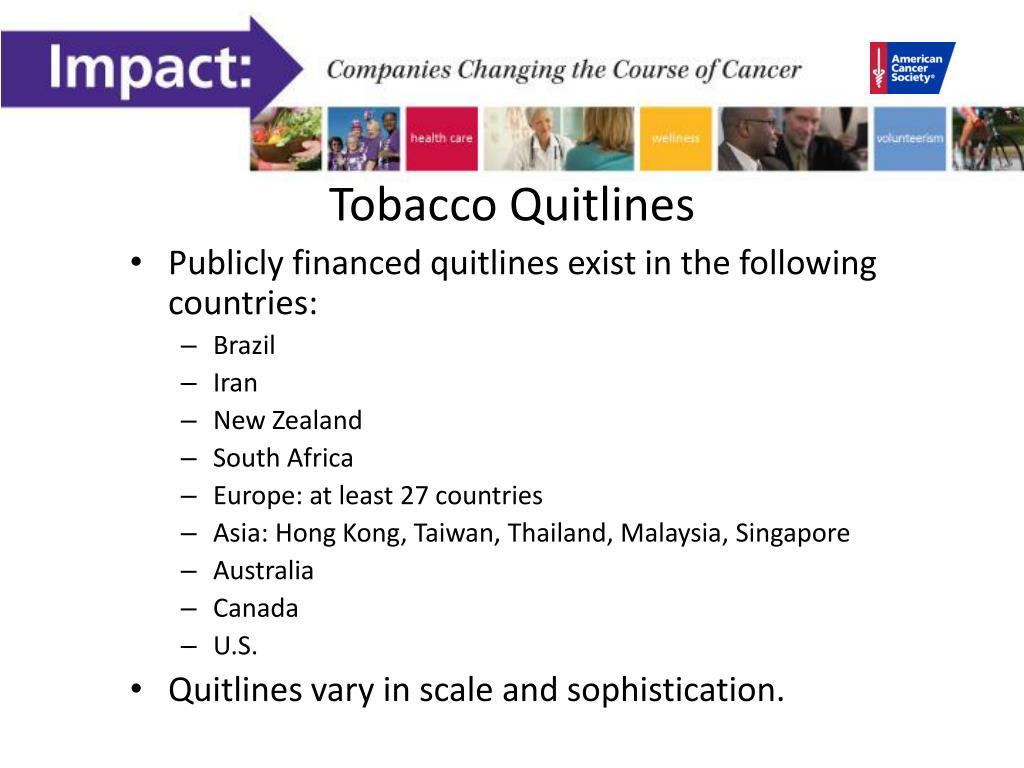 Tobacco Quitlines
