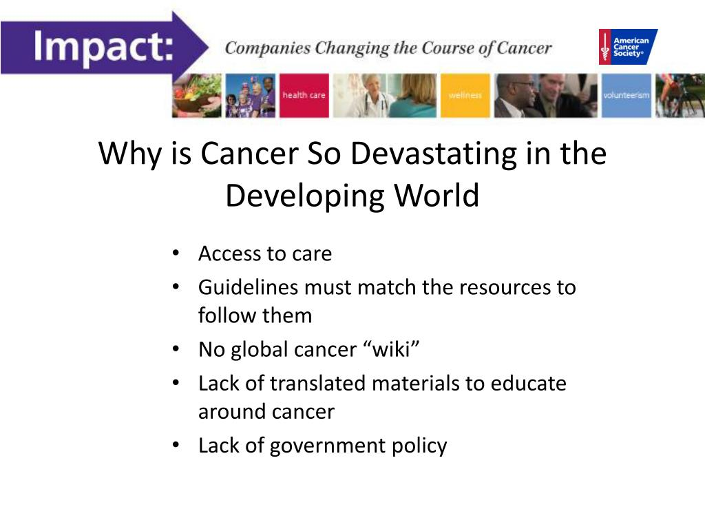 Why is Cancer So Devastating in the Developing World