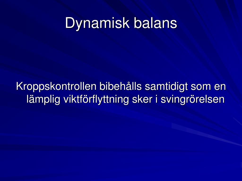 Dynamisk balans