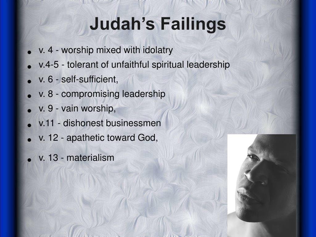 Judah's Failings