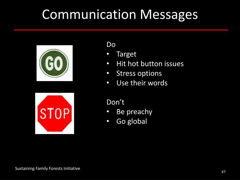 Communication Messages