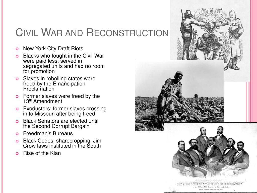 reconstruction of america after civil war Civil war reconstruction summary: there are two basic areas of topics in regards to the reconstruction era one covers a period from 1865-1877 and is as broad as the us history in its entirety and the other sticks mainly to the southern states and dates from 1863-1877 this was the reconstruction.