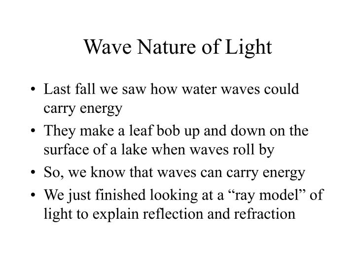 Wave nature of light2
