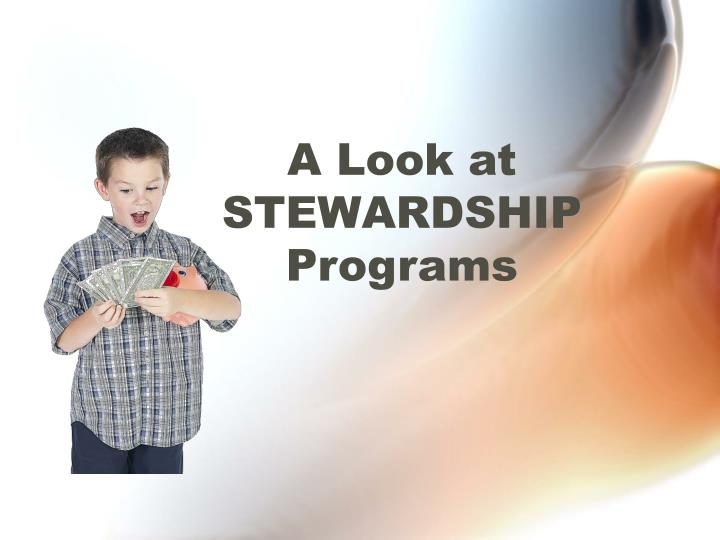 A look at stewardship programs l.jpg