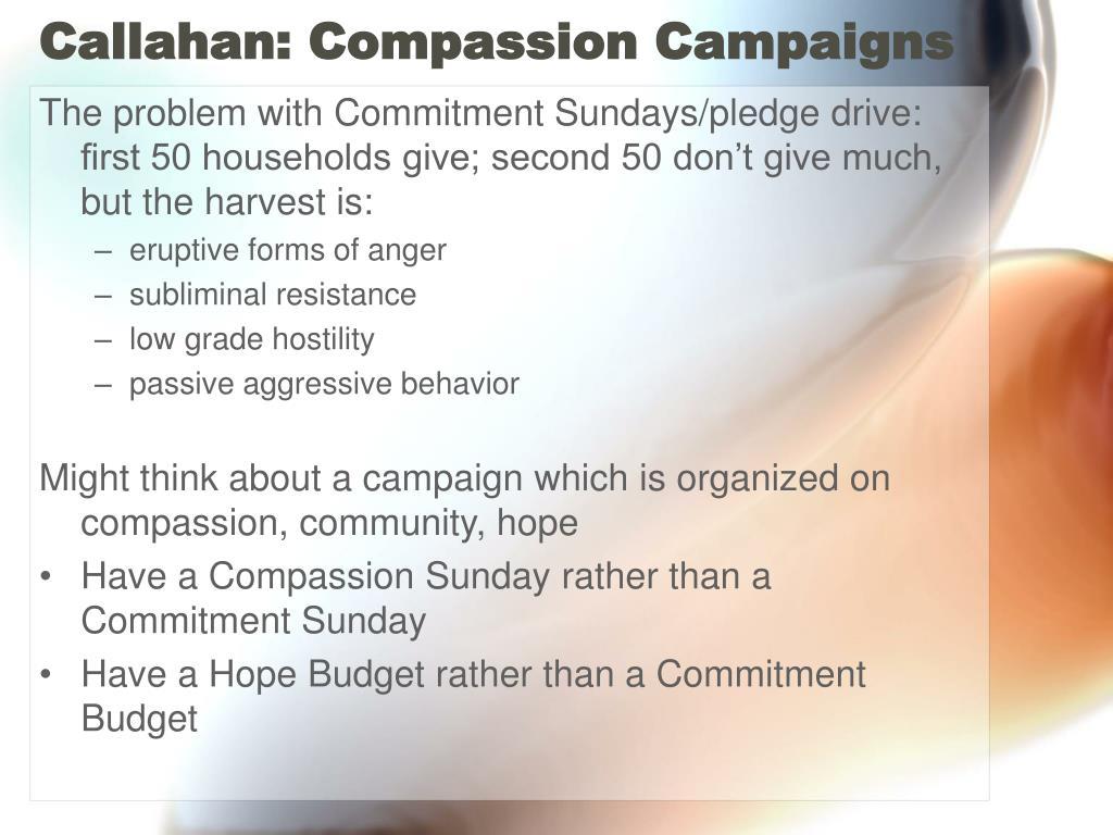 Callahan: Compassion Campaigns
