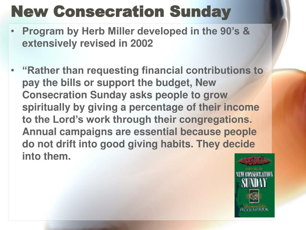 New Consecration Sunday