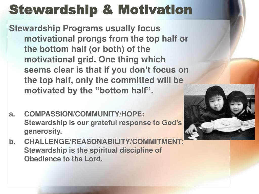 Stewardship & Motivation