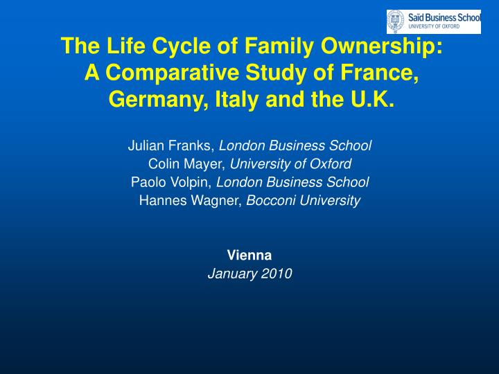 The life cycle of family ownership a comparative study of france germany italy and the u k l.jpg