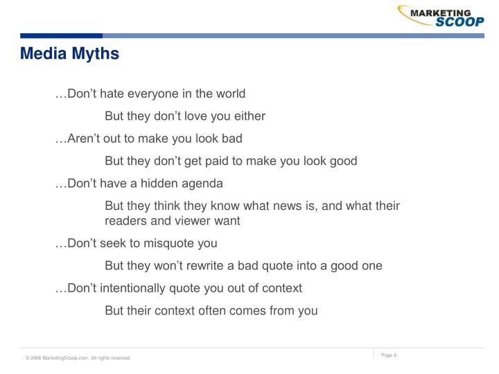 Media Myths