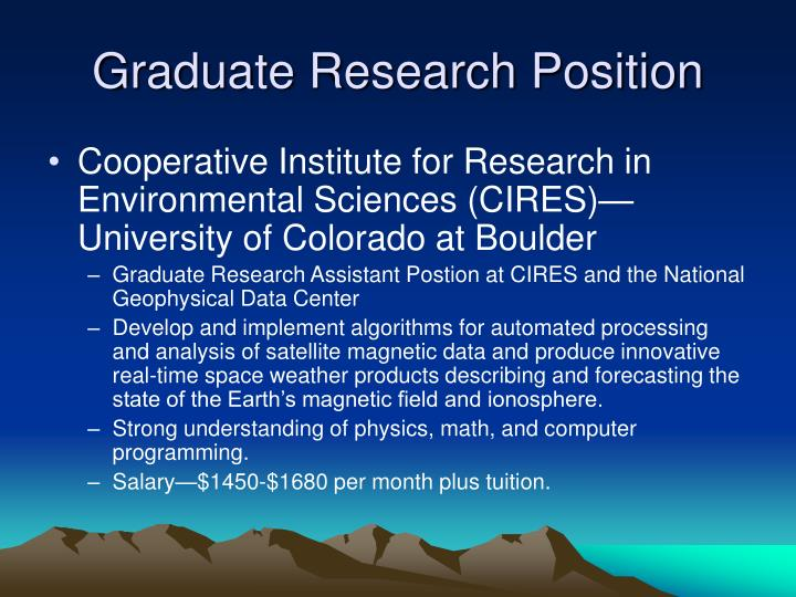 Graduate Research Position