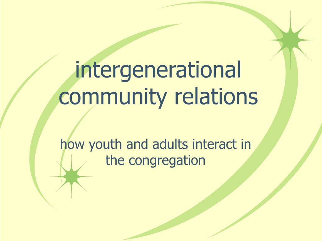 intergenerational community relations
