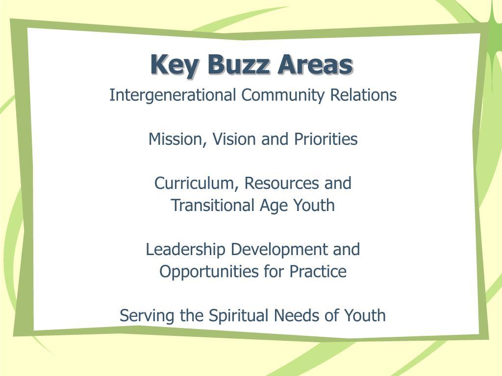 Key Buzz Areas