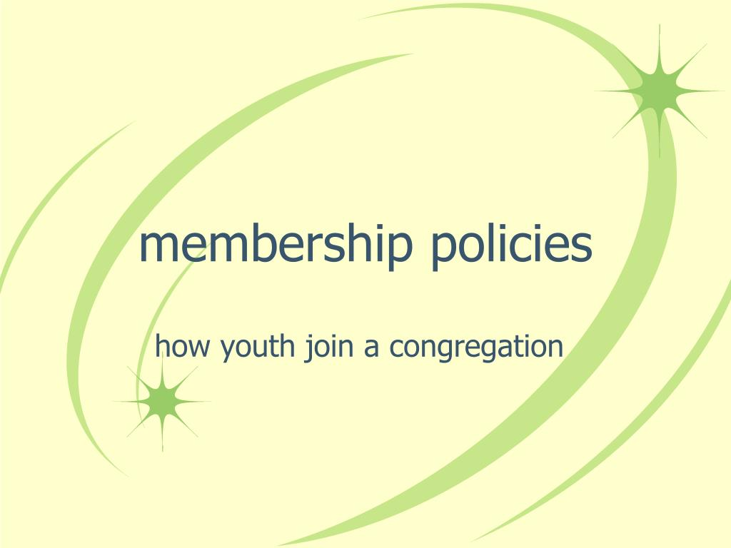 membership policies
