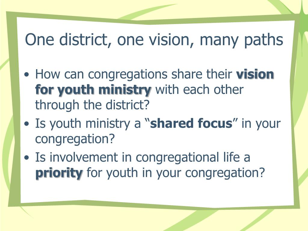 One district, one vision, many paths