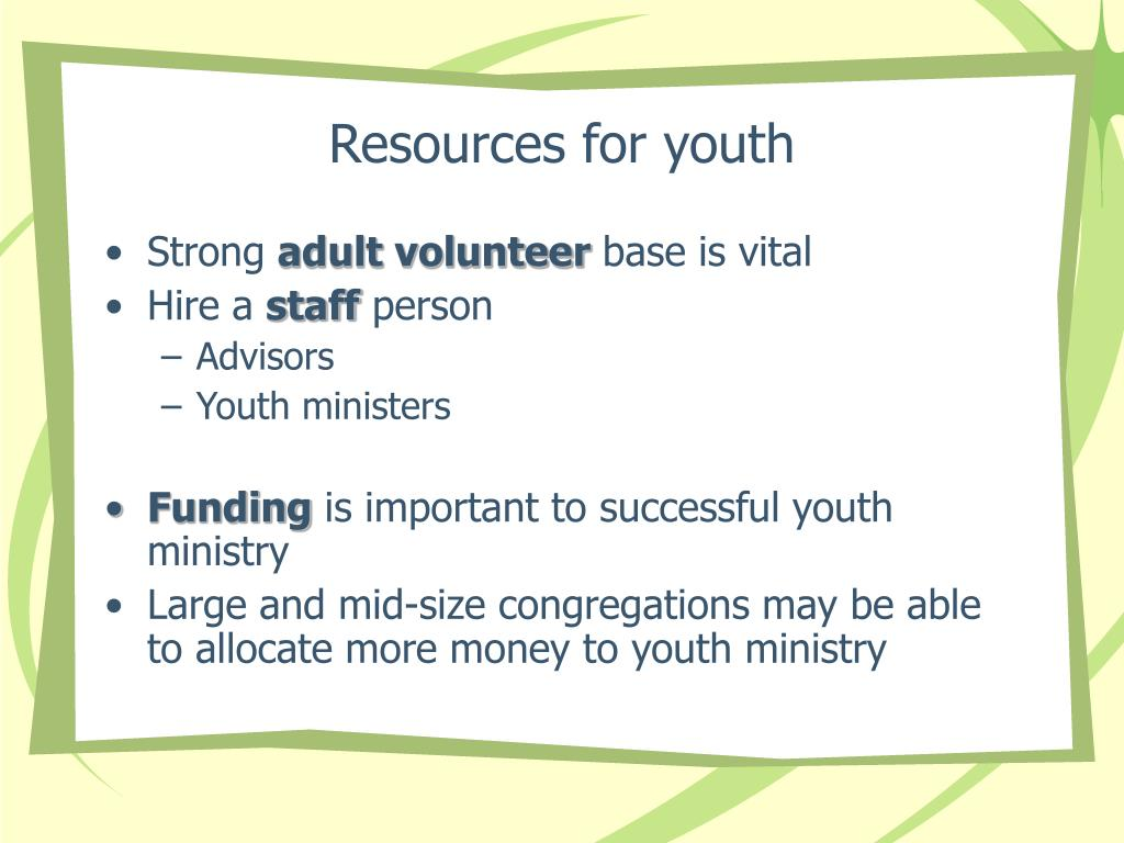 Resources for youth