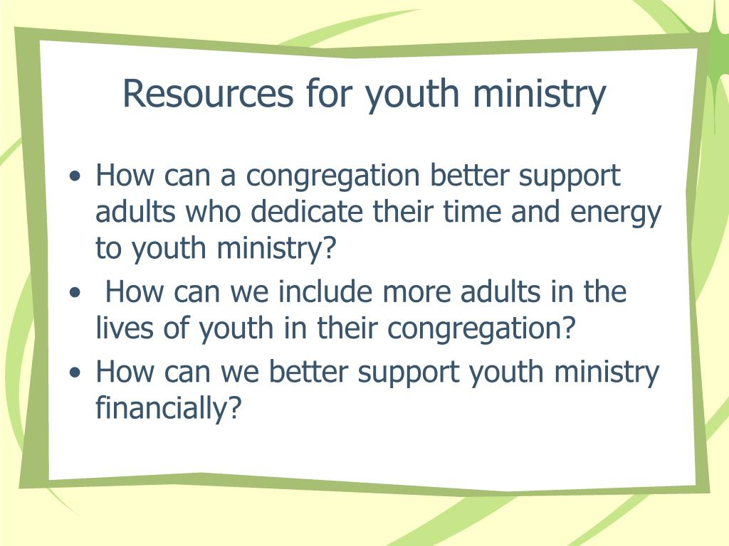 Resources for youth ministry