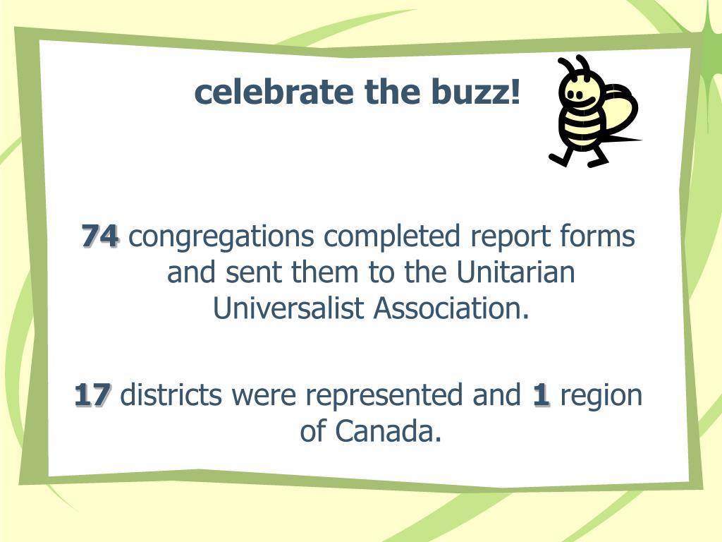 celebrate the buzz!