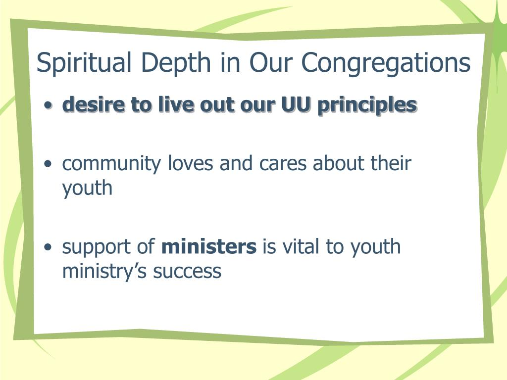 Spiritual Depth in Our Congregations