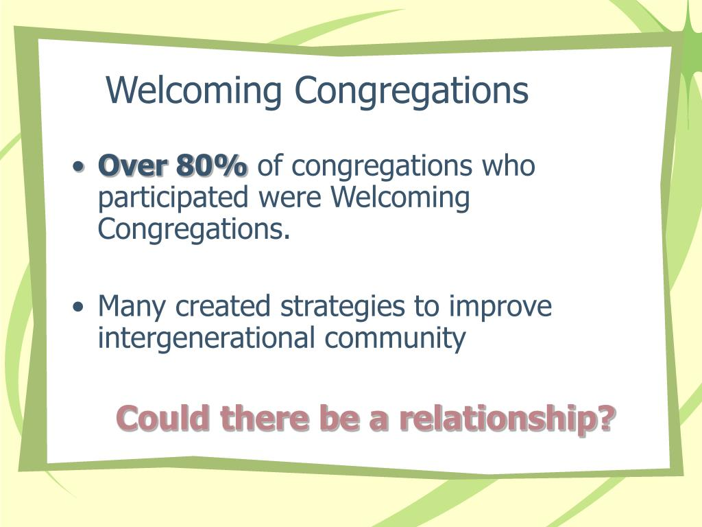 Welcoming Congregations