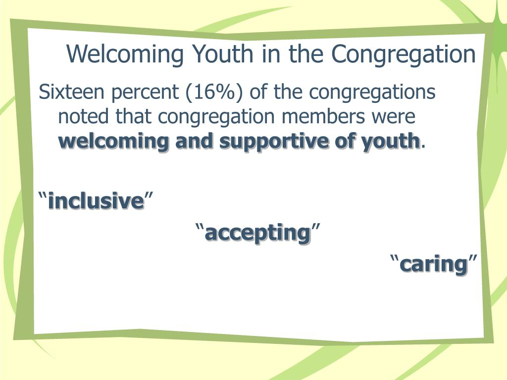 Welcoming Youth in the Congregation