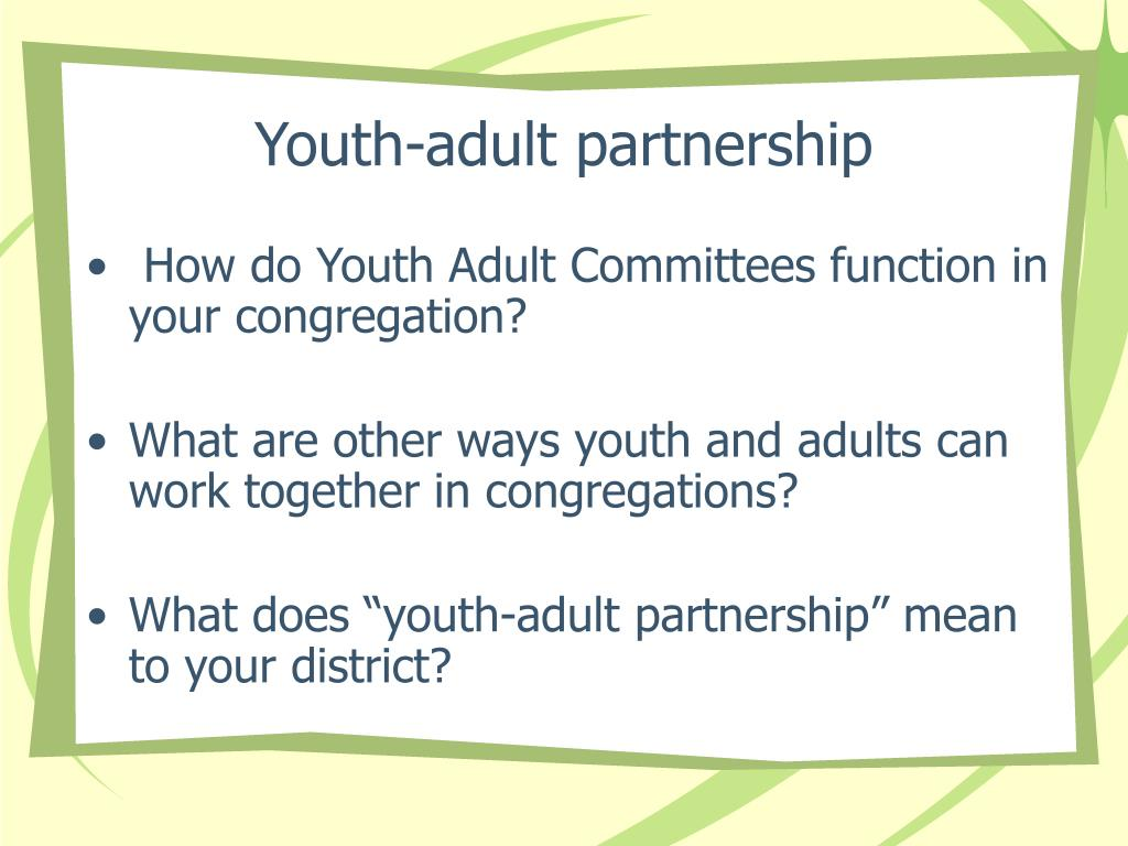Youth-adult partnership