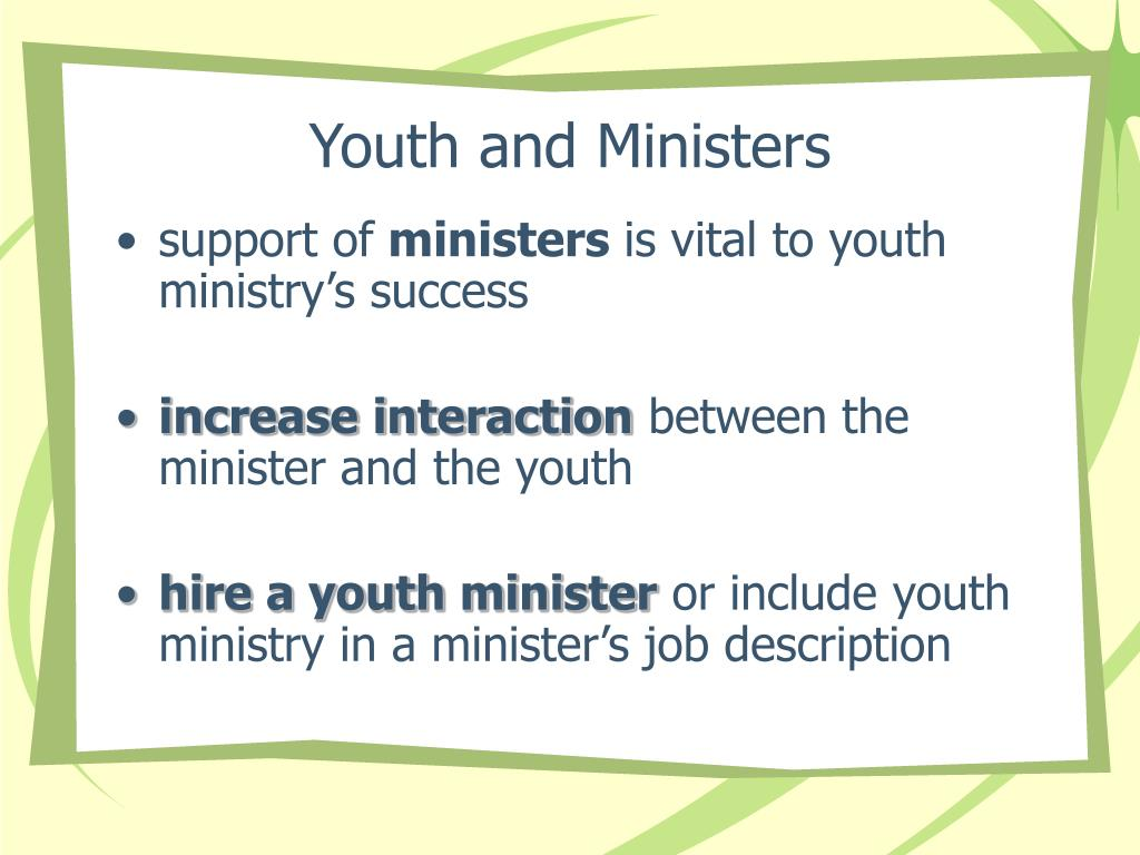 Youth and Ministers