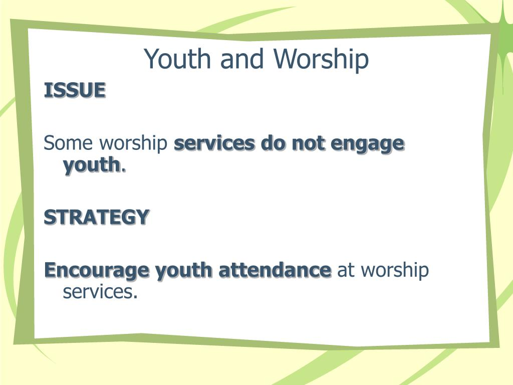 Youth and Worship