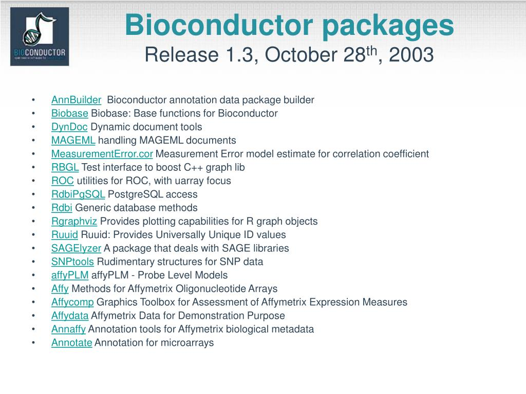 Bioconductor packages