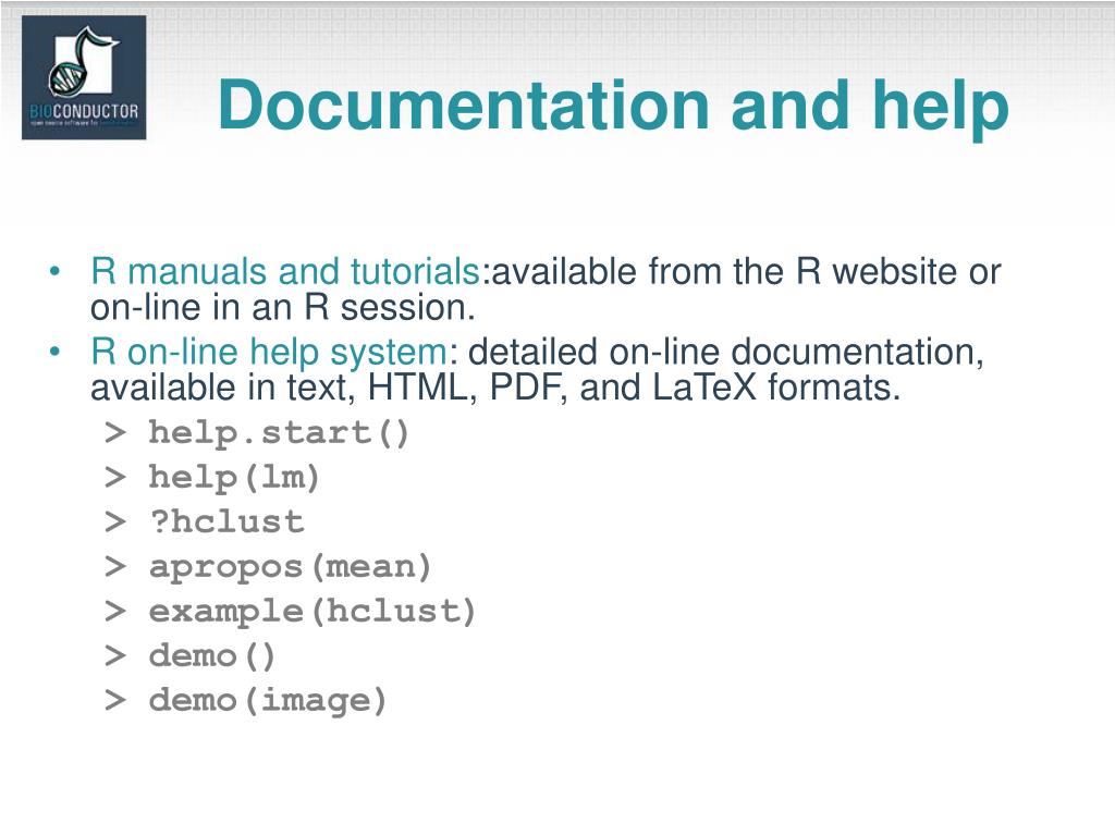 Documentation and help