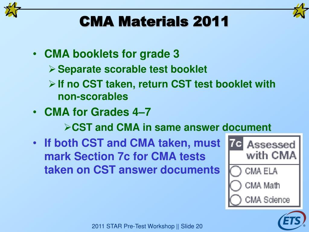 CMA Materials 2011