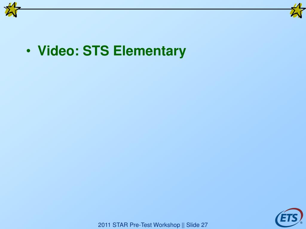 Video: STS Elementary